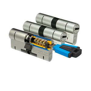 Gelijksluitende cilindersets (alle cilinders dezelfde sleutel)