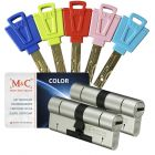 M&C Color 32/32 2 cilinders en 5 sleutels SKG***