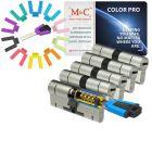 M&C Color PRO8 32/32 5 cilinder en 7 sleutels SKG***