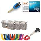 M&C Matrix SKG®*** 3 cilinders met 5 sleutels kerntrekbeveiliging | safedeliveries.nl